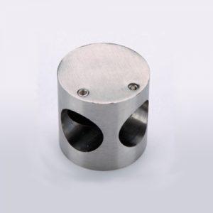 Nudo conector de acero inoxidable para puertas