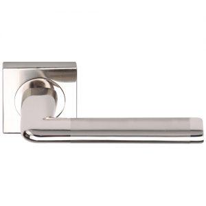 Manillas puertas aluminio roseta cuadrada