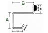 Colgador/percha doble con tope de puerta en acero inoxidable - Acero Inoxidable - MR4007