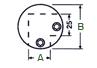 Nudo conector de 90º para dos tubos de 25mm en acero inoxidable - Acero Inoxidable - MR-151