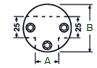 Nudo conector de 90º para tres tubos de 25mm en acero inoxidable - Acero Inoxidable - MR-330