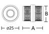 Unión para tubo de cabina sanitaria en acero inoxidable. - Acero Inoxidable - MR130PB